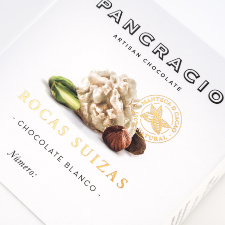 Rocas Suizas de chocolate blanco. Ingredientes
