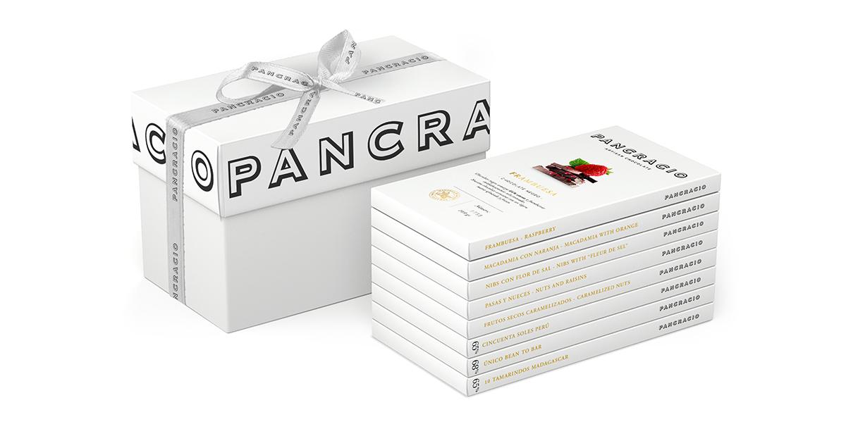 Chocolate gift box 'S'<br>9 bars – Intense