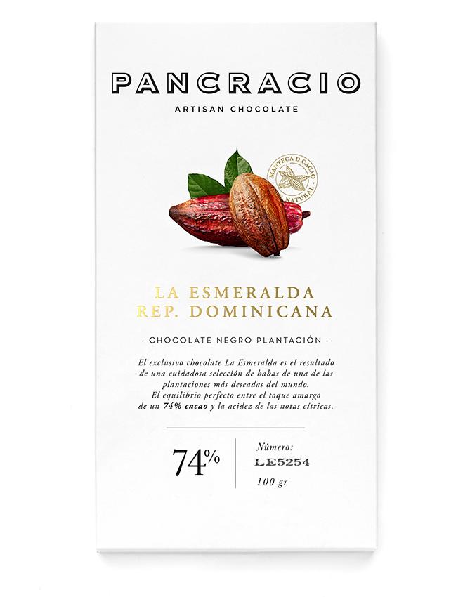 Chocolate negro de La Esmeralda R. Dominicana