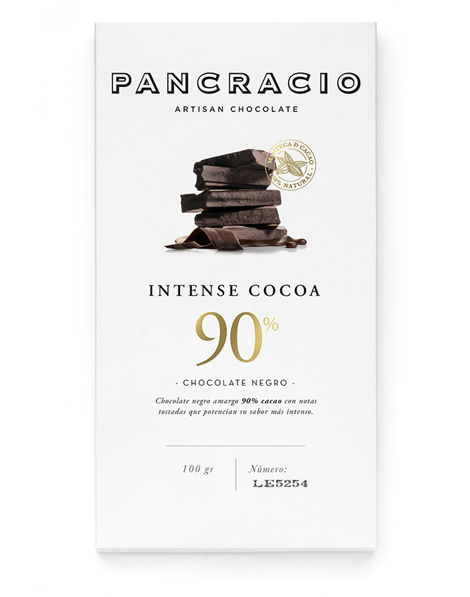 Intense Cocoa 90% Dark Chocolate Bar