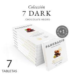 Cata de chocolates negros. 7 tabletas Dark. Chocolates Pancracio